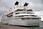 Die Seabourn Legend in Warnemünde