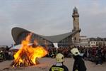 Warnemünde - Fackelumzug und Osterfeuer 2010