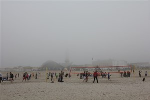 25. An-Bagger-Cup in Warnemünde - Start im Nebel
