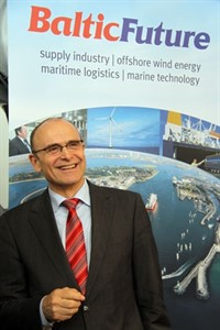 "Erwin Sellering auf der ""Baltic Future""-Messe in Rostock"