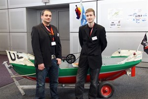 "Gunnar Kistner und Michael Kneusel, ""Waterbike-Team University of Rostock"""
