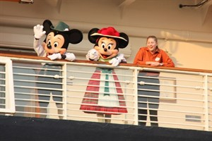 Mickey und Minnie auf der Disney Magic