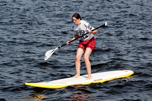 Stand Up Paddling (SUP) bei der Hanse Sail Rostock