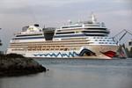 AIDAsol – Erstanlauf im Kreuzfahrthafen Warnemünde