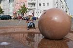 Granitkugel auf dem Margaretenplatz sprudelt wieder