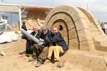 Weltrekordversuch im Sandbrückenbau an Karls Pier 7