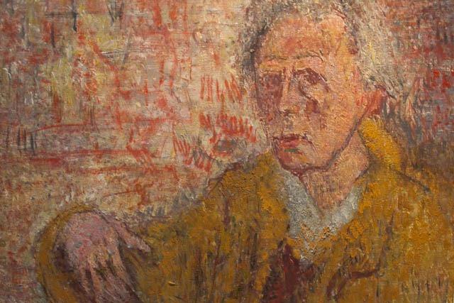 Ausschnitt aus einem Selbstporträt von ONH