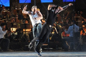 "Michael Starkl und Gerd Achilles in der ""West Side Story"""