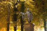 Blücherdenkmal auf dem Uniplatz mit Fahrrad