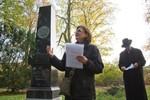 Grabmal von Friedrich Witte im Lindenpark erneuert