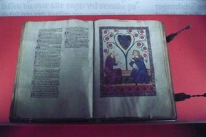 "Der ""Codex Manesse"", fotografiert in Heidelberg"