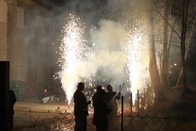 Feuerwerk beim Têt-Fest