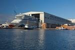 Kreuzfahrtschiff AIDAmar ausgedockt