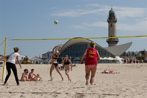 Beachvolleyball in Warnemünde