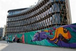 "Streetart: ""Wand am Meer"" im Rostocker Stadthafen"