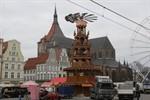 Höchste Glühweinpyramide der Welt zu Gast in Rostock