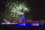 Neujahr 2013: Leuchtturm in Flammen