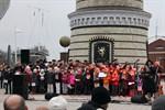 Adventssingen 2012 am Leuchtturm von Warnemünde