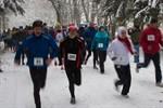 Nikolauslauf 2012 im tiefen Schnee
