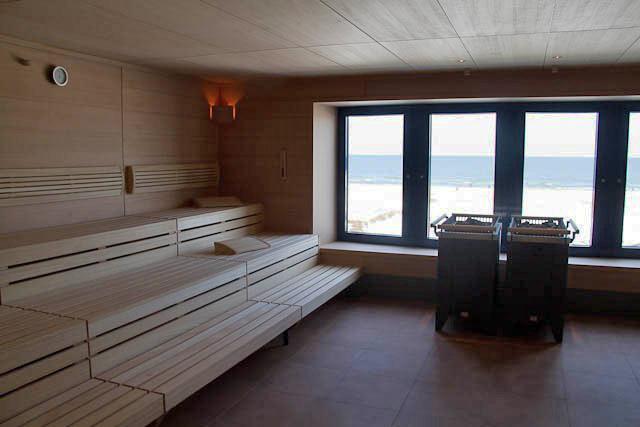 Sauna im Spa-Breich des Warnemünder A-ja