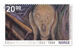 Jubiläumsbriefmarken zum 150. Geburtstag von Edvard Munch