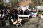 Protest gegen Abholzung in den Wallanlagen