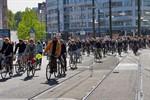 Über 200 Radfahrer protestieren am 1. Mai gegen NPD-Demo