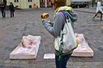 Menschenfleisch auf dem Uni-Platz