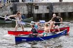 Wasserschlacht im Rostocker Stadthafen
