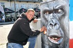 Graffiti zeigen Zoo-Bewohner