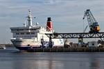 Fährschiff Trelleborg macht im Stadthafen fest