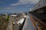 Erster Dreifachanlauf im Kreuzfahrthafen Warnemünde 2015