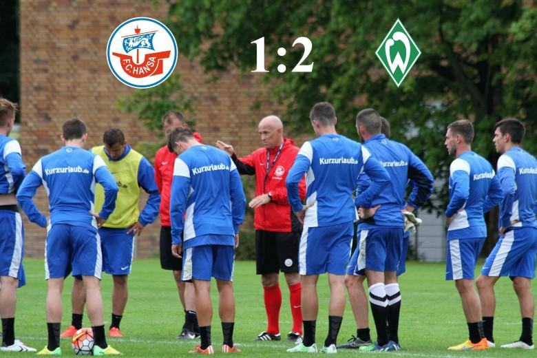 Hansa Rostock unterliegt Werder Bremen II mit 1:2