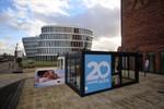 Showkabine des neuen Kreuzfahrtschiffes AIDAprima im Rostocker Stadthafen
