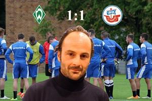 Hansa Rostock und Werder Bremen II trennen sich 1:1 (Fotomontage/Archiv)