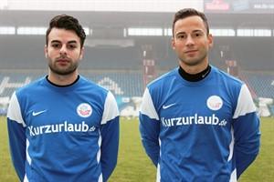 Christer Youssef (links) und Ronny Garbuschewski stellen sich bei Hansa Rostock vor