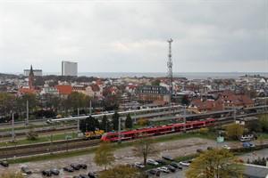 Bis 2020 soll der Bahnhof Warnemünde umgebaut und ein Stück nach Süden versetzt werden