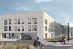 Entwurf für nördlichen Stadteingang im Petriviertel (Praeger Richter Architekten GmbH, Berlin)