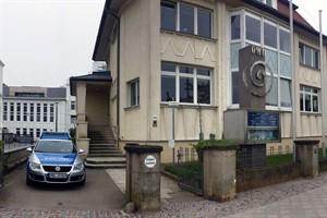 Polizeistation Warnemünde im Haus des Deutschen Wetterdienstes in der Seestraße