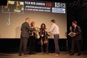 """Der Experimentalfilm """"postcolonisalism in 30 sqm"""" von Clara Winter und Miguel Ferráez wurde zum Film des Jahres beim FiSH 2016 gekürt (Foto: Patrick Hinz)"""