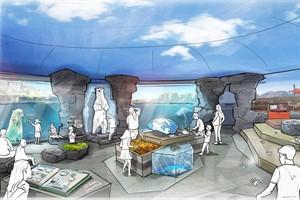 Polarium im Rostocker Zoo: Blick in das Besucherzentrum (Quelle: dan pearlman Markenarchitektur GmbH)