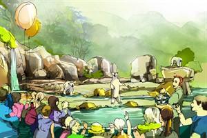 Polarium im Zoo Rostock - Teilansicht Eisbären (Quelle: Arge Pol-Position)