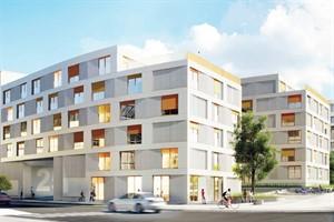 Favorisierter Bebauungsvorschlag für das Grundstück Am Vögenteich/August-Bebel-Straße (Entwurf: Anne Menke Sharam, Project Architecture Company, Berlin)