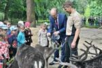 Rentier-Taufe im Zoo Rostock
