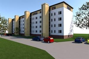 So soll der Wiro-Block in der Majakowskistraße in der Rostocker Südstadt aussehen (Quelle: Wiro/Architekturbüro Haß + Briese)