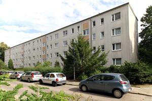 Aktuell hat das Wiro-Wohnhaus in der Majakowskistraße 34-37 noch vier Geschosse