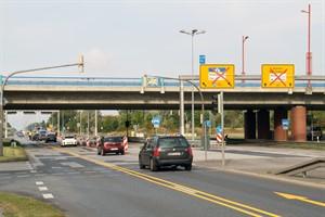 Baustelle auf der B105 zwischen Schutower Kreuz und Sievershagen