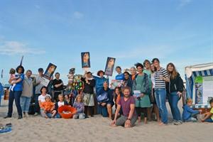 Akteure des ersten Landesaktionstags gegen Meeresmüll in Warnemünde (Foto: EUCC)