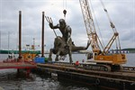 Rückbau der Njörd-Skulptur im IGA Park