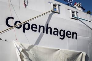 """Scandlines-Hybridfähre auf den Namen """"Copenhagen"""" getauft (Foto: Claus Lillevang)"""